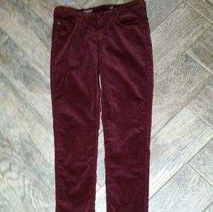 AG Jeans velvet soft rich fall color